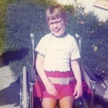 Bilde fra invitasjonen: Meg 11 år, Trondsletten./Picture from the invitation: Me, 11 years old, Trondsletten.