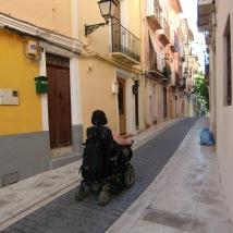 Her ser dere eksempel på brostensgatene/Here is an example of the paved streets. Foto: Silje Karin Storvig