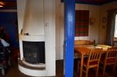 Inne i hytta/Inside the cottage