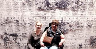 På kunstmuseum med Kjersti, tidligere assistent som jeg synes det var veldig hyggelig å møte igjen!