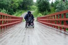 Inngangsbroen til Klokkerhagen. Foto: Marta Øgaard