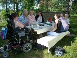 Lunsj med familien/ Lunch with my family. Foto av Linn Simonsen
