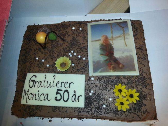 Monicas bursdagskake/ Monica's birthday cake. Foto av Monica Kvåle